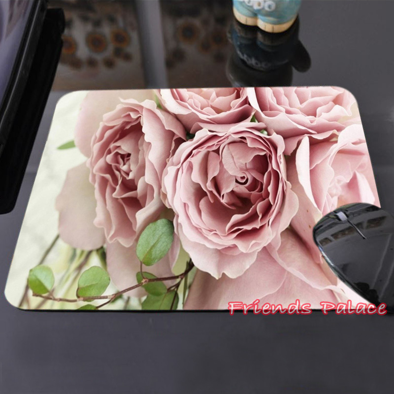 High Quality Sweet Peach Roses Customized Mouse Pad Beautiful and Fragrance Computer Notebook Laptop Gaming Mice Mat Pad(China (Mainland))