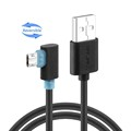 hot sale Coolsell Black Bend 100cm 200cm Micro USB Cable Fast Charging Data Sync Cords for