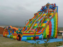 Factory direct inflatable trampoline,, inflatable slide, obstacle!  Bear Slide Inflatable castle,YTY-101(China (Mainland))