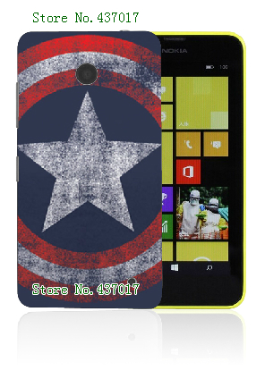 Mobile Phone Cases 2015 Retail 1pc Captain America logo Protective White Hard Cases For Nokia Lumia 630 Free Shipping(China (Mainland))