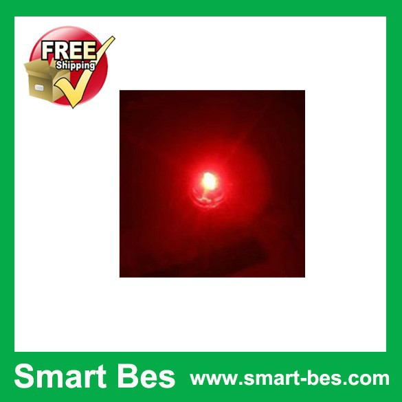 Free Shipping 200PCS/Lot ~Smart Bes 5MM Straw Hat LED Red Ultra Bright LEDS electronic supply good quality in stock(China (Mainland))