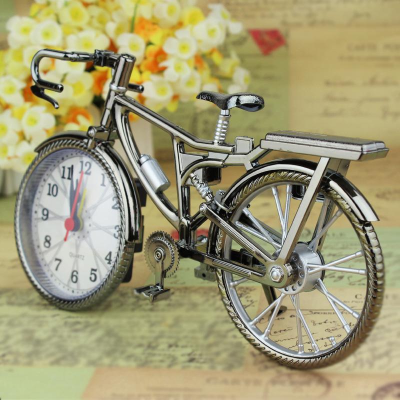 Newest Fashion Bike Shape Alarm Clock For Children Kids Bicycle Alarm Clock Home Art Decoration(China (Mainland))