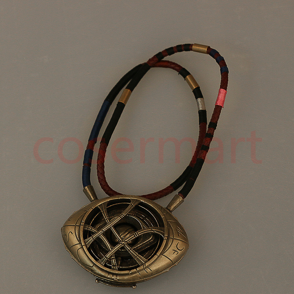 Doctor Strange Necklace Eye of Agamotto Necklace Eyes Can Open Cosplay Props New (5)