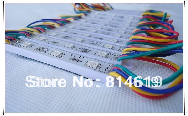 DC12V Super Bright RGB LED Module Light SMD5050 3leds/piece IP65-Waterproof 50pcs/lot<br><br>Aliexpress