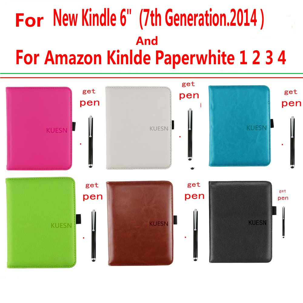 Advanced Leather Cover Sleeve Case for Amazon New Kindle 6 Glare Touchscreen 7th Gen high qualty