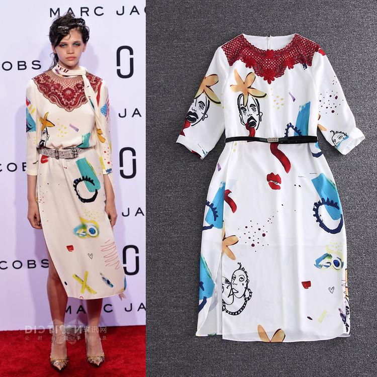 Freeship New Dress Western Style 2016 Summer Women High Quality Cotton Hollow Out Embroidery Slim Fit  ALine Cotton Dress RedОдежда и ак�е��уары<br><br><br>Aliexpress