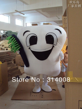 Tooth with Toothbrush Mascot Costume Halloween gift costume characters sex dress hot sale