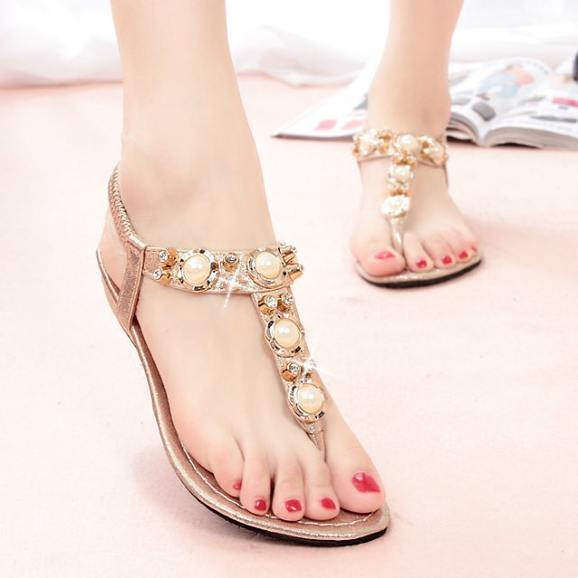 2014 summer women sandal candy color flat sandals genuine leather shoes comfortable ladies sandalias - Forrest Wang's store