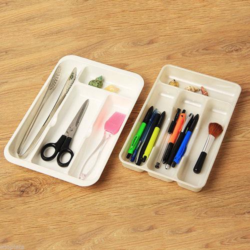 1pcs kitchenware cutlery font b stationery b font storage drawer tray holder desk organiser h0000269