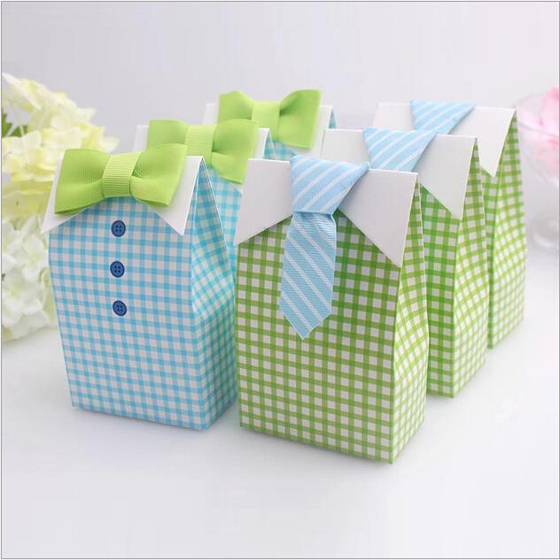 100pcs/pack Hot sale 2 Colors Wedding Favor Candy Box Paper Green Blue Bow Tie Decoration Bridal Supplies Wholesale(China (Mainland))