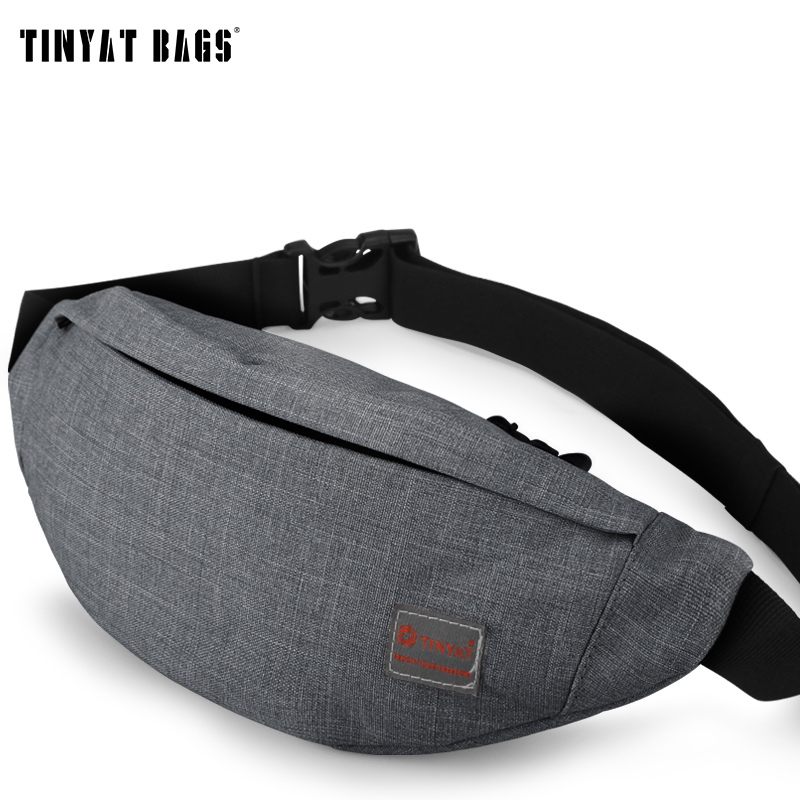 Men Male Sports Casual Functional Fanny Bag Waist Bag Money Phone Belt Bag T201 Gray