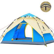 3-4 person Tents Hydraulic automatic Windproof Waterproof Double Layer Tent Ultralight Outdoor Hiking Camping Tent Picnic tents