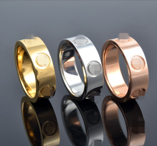 High quality men women wedding jewelry love couple screw rings Gold filled white rose yellow gold USA size 6-14 free shipping(China (Mainland))