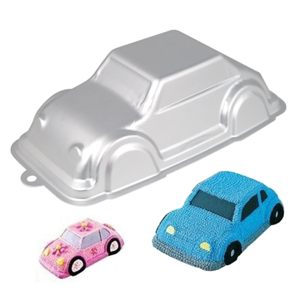 FS Hot 3D Cruiser Car VW Beetle Cake Pan Tin Decorating Mould Bakeware Birthday Kids(China (Mainland))