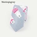 Polyester Cartoon Animals Pattern Neckties for Wedding Party Jacquard Tie for Mens Slim Gravatas Corbatas Collar