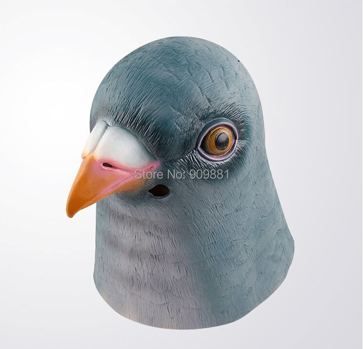 Pigeon Head Animal Latex Mask Halloween Masquerade Full Face Masks Adult Party Costume Props Prom Dresses High Quality Hot Sale(China (Mainland))