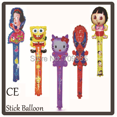 Free Shipping 20pcs/bag 100pcs/lot Average Size 80x20cm Balloon Stick Cheering Clapper Balloon mix order(China (Mainland))