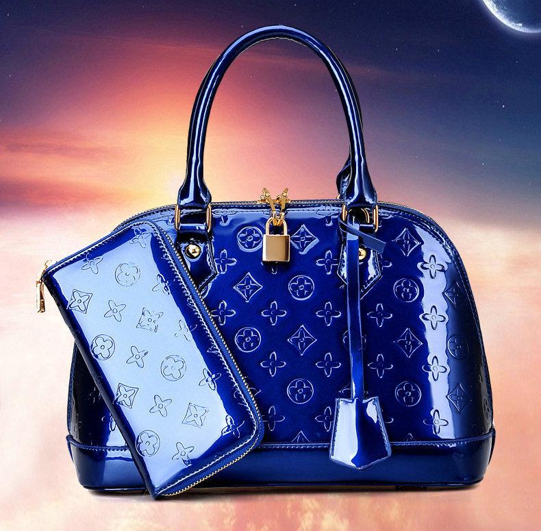 2015 Fashion Brand Women Handbag Patent Leather Shoulder Bags Women Messenger Bags Tote Fashion Shell Bag Buy One Get Two sg284(China (Mainland))
