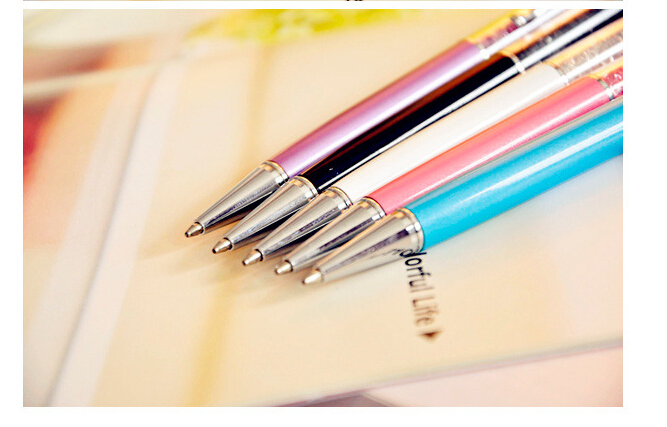 Crystal Pen swarovski element wedding party Gift Crystal ball pen Diamond ballpoint pens for students lovers retail wholesale(China (Mainland))