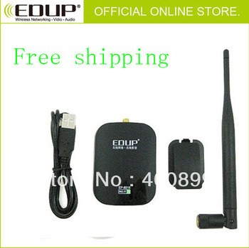 2pcs/Lot EDUP EP-8515 high gain USB wireless network cards with 6 dbi antenna Support Windows 2000, XP, Vista, Linux and MAC OS