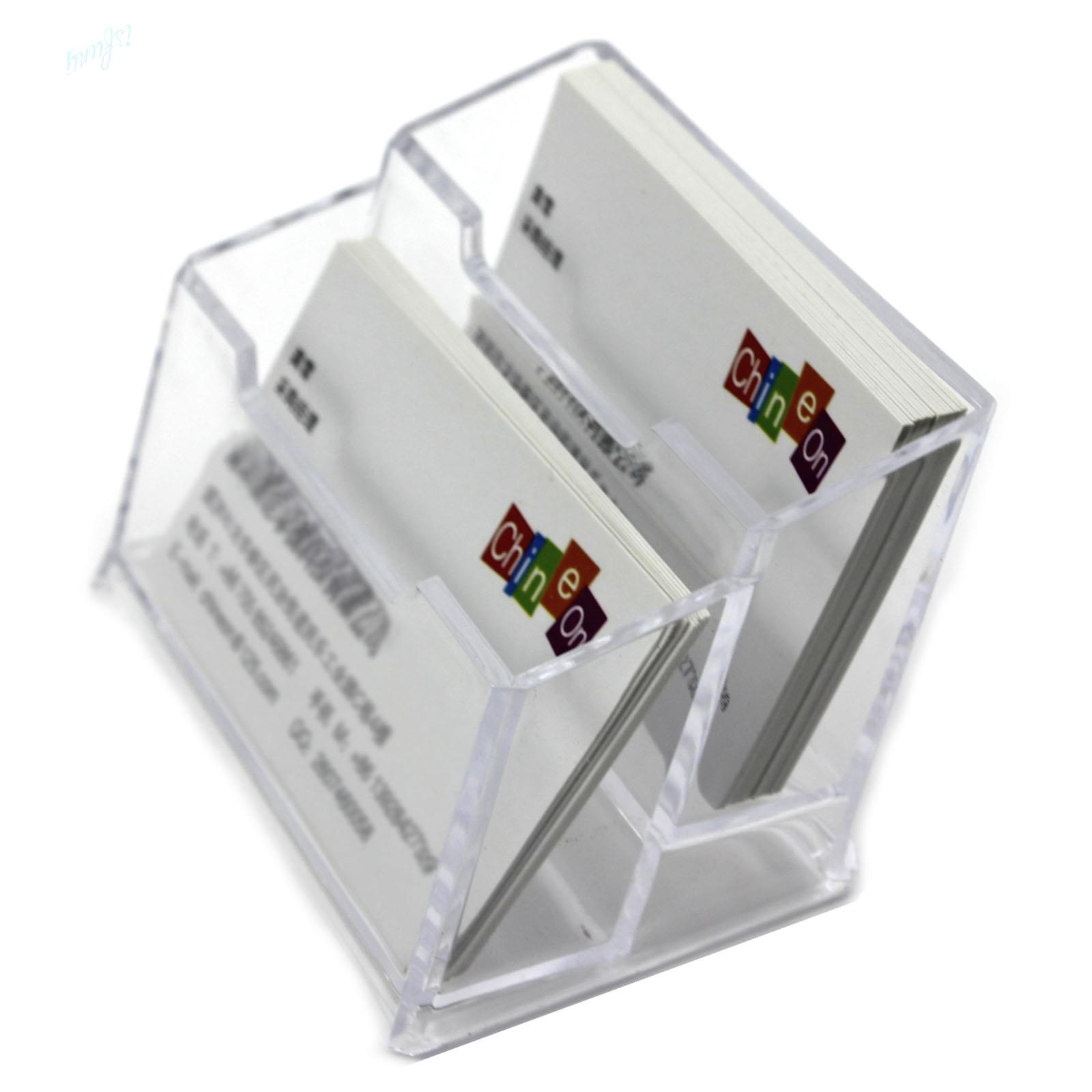 Wholesale-Double Layers Clear Plastic Durable Business Name Cards ...