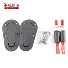 Alpha Racing-High Quality Generation Aerocatch Bonnet Pins Plus Flush Hood Latch Kit Pin Plastic hood lock Without Lock(China (Mainland))