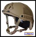 M LG Coyote Brown Deluxe NIJ level IIIA 3A FAST Bulletproof Kevlar Helmet With HP White