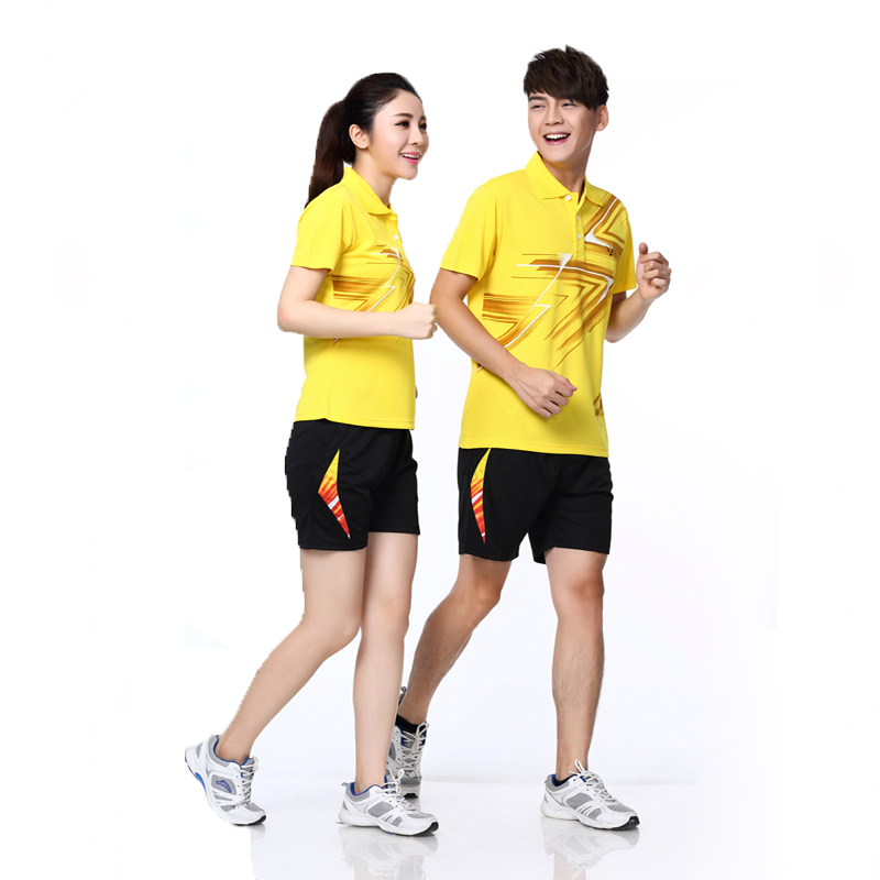 2015 new male and female RACE WAY Tennis Apparel / lovers / casual / Badminton Clothing / tennis clothing shirt + short(China (Mainland))