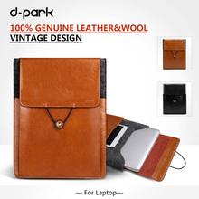 Free Shipping D-park Vintage Envelope Sleeve Woolfelt & Leather Case for Macbook Retina Pro 15'/15.4(China (Mainland))