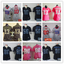 Signature WOMEN PINK Love New York Giants ladies 10 Eli Manning 13 Odell Beckham Jr. 80 Victor Cruz Embroidery Logos,camouflage(China (Mainland))