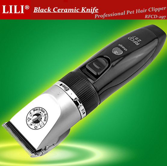 New RFCD-297 Rechargeable Electric Pet Hair Clippers Dog Grooming Professional Haircut Machine For Dogs Cats Cool Shaver Razor(China (Mainland))