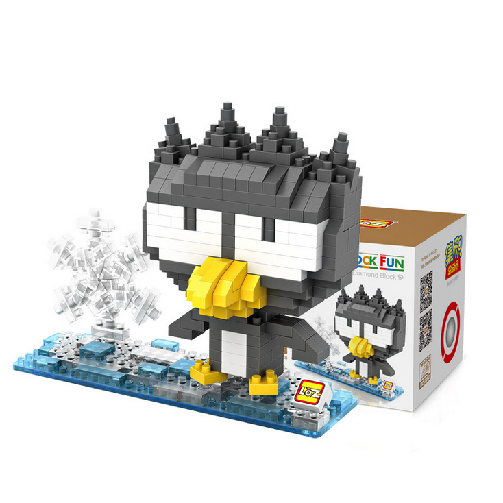 BAD BADTZ MARU Japan minifigures minecraft building Blocks XO cool penguin Championship mascotAction Figure Model Kids Toys 0737(China (Mainland))