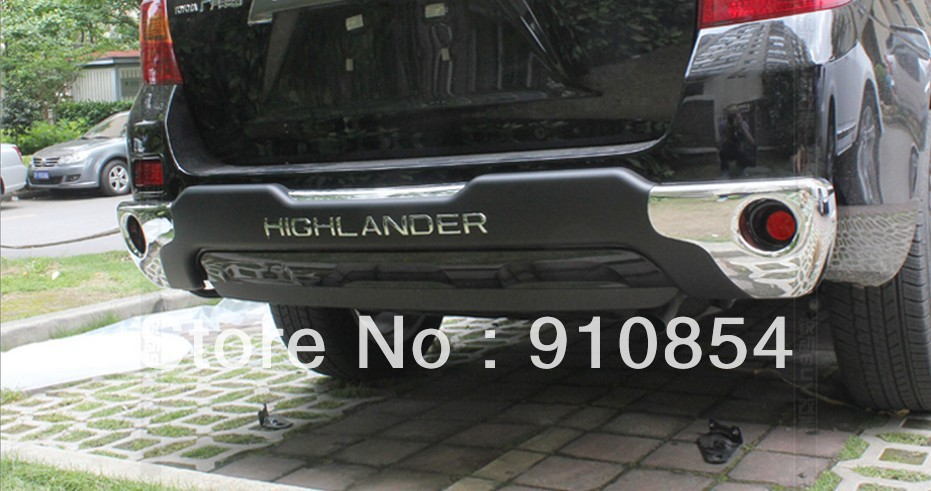 Rear Bumper Skid Protector Guard Fit For 08 09 10 Toyota Highlander 2008 2009 2010 <br><br>Aliexpress