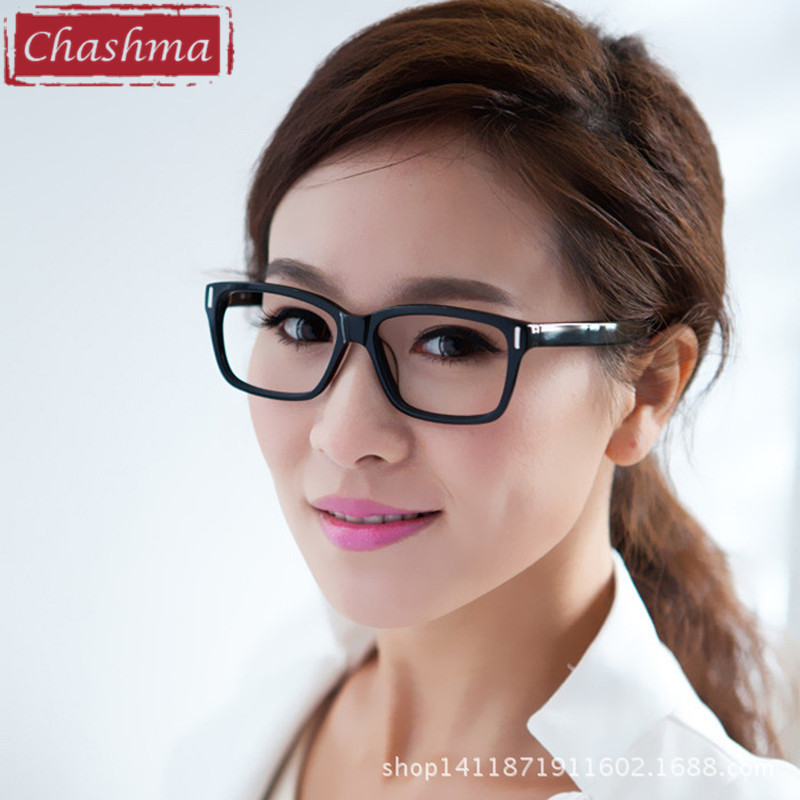 chashma acetate prescription glasses frame women large frame black optics eyewearchina mainland