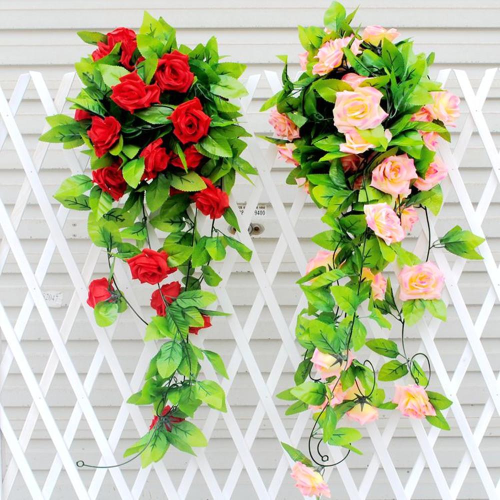 Ivy Vine Fake Silk Rose Flower Garland Wedding PARTY Decoration