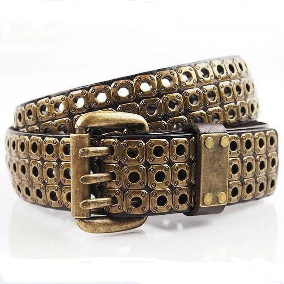 Color Coffee, Famous Handmade Gold Rivet Belt, Brand Name Designer belt As Gift YHBK4030AОдежда и ак�е��уары<br><br><br>Aliexpress