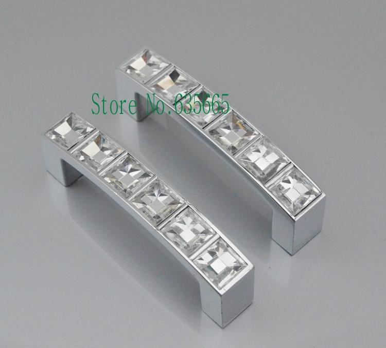 64MM Crystal Glass Diamond Furniture Hardware Handles Door Knob Drawer Wardrobe Kitchen Cabinets Cupboard Pull Door Accessories(China (Mainland))
