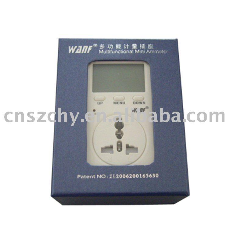 Plug In Watt Hour Meter : Plug in smart watt hour meter single phase for home use
