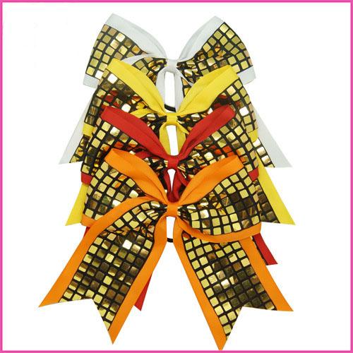 50pcs/lot 7-8Inch Big Grosgrain Ribbon Hairbow Hair ring,Baby Girls' Hair Accessories ,Plaid Boutique Christmas gift Hair Bow B(China (Mainland))
