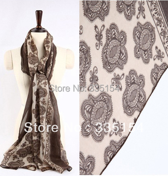 2015 Autumn Winter Floral Printed Vintage Scarf Women Viscose Fringe Voile Scarf Shawls 9colors 10pcs/lot FREE SHIPPING