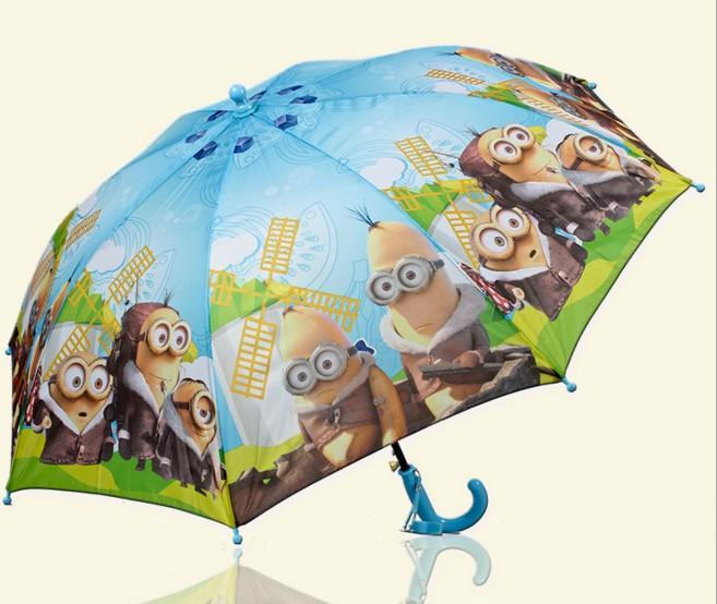 Высокое качество мультфильм миньоны гадкий я дождь зонтик 3 цвет женщины детей зонты дети девочка мальчик подарок B3