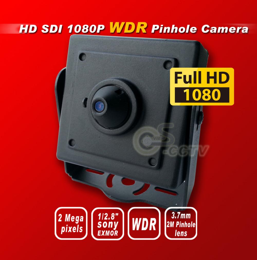 Free shipping HD SDI 1080P Pinhole WDR cctv camera 2.4M1/2.8''Panasonic Sensor digital security camera 3.7MM 2M pinholelens OSD(China (Mainland))