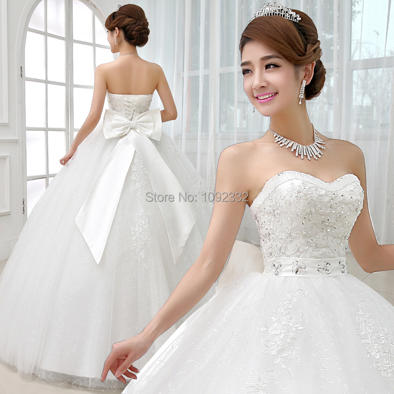 S 2016 new stock bridal gown plus size women wedding dress for Lace top plus size wedding dress