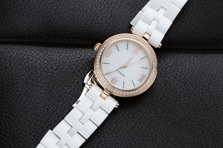 Elegant Office Lady Dress Watch Quartz Korean Analog Clock 100% Real Ceramic Bracelet Wristwatch Crystals Relojes 3ATM NW2442<br><br>Aliexpress