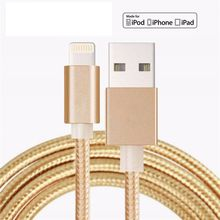 1.5M Luxury Metal Braided Mobile Phone Cables Charging USB Cable Charger Data For iPhone 5 5S 6S 6 6 plus IOS Data accessories