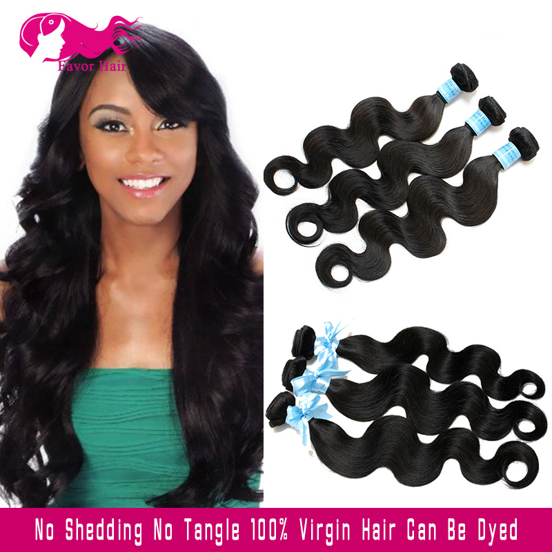 7A Unprocessed Virgin Indian Hair Body Wave Weave Human Hair Body Wave Bundles 3pcs Indian Virgin Hair Body Wave Weave Thick<br><br>Aliexpress