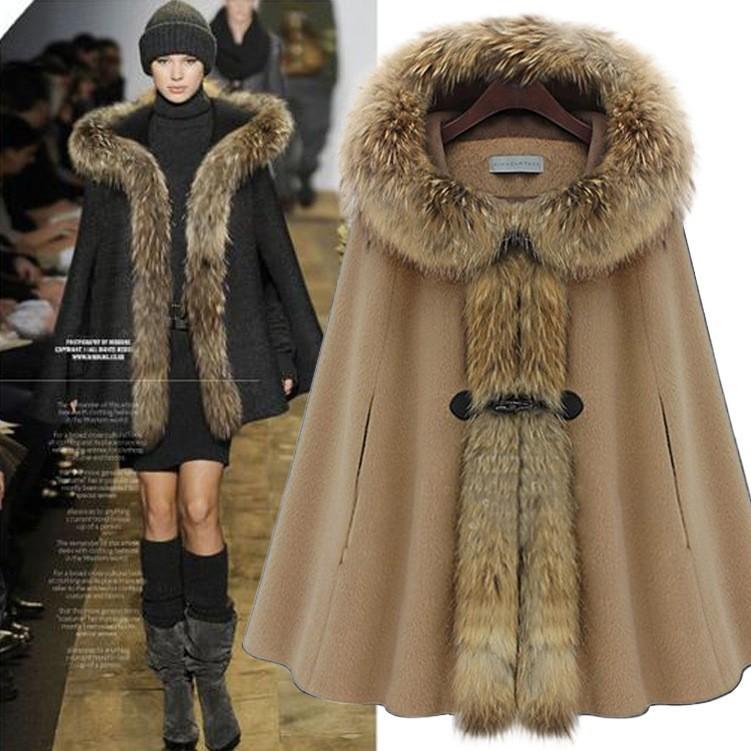 women coats winter fashion 2014 winter new raccoon fur ...