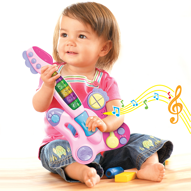Music guitar toy multifunctional small guitar baby electronic organ toy(China (Mainland))