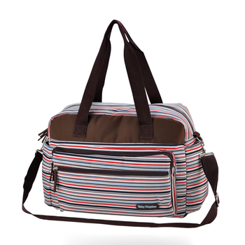 new striped big baby nappy bags Stylish mummy handbag shoulder Messenger multifunctional maternity mother bags baby stroller bag