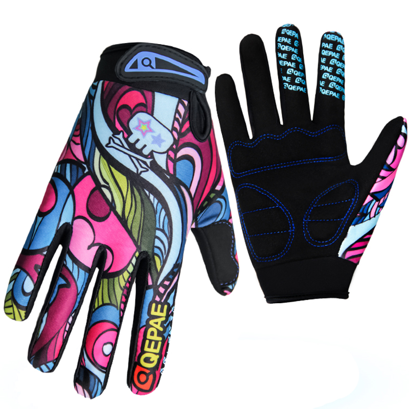 Print New Touch Screen Warm Gel Padded Shockproof Durable High Quality MBT Cycling Gloves Winter Long Finger Gloves Motorcycle(China (Mainland))